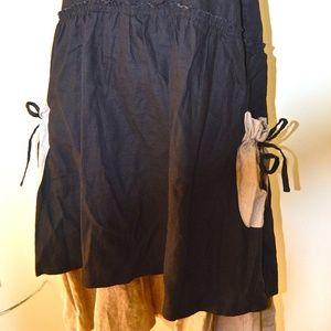 Dresses & Skirts - NEW Two-Tone 100% Linen Midi Skirt